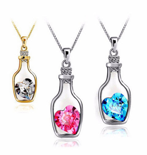 FREE GemLove Crystal Pendant Necklace