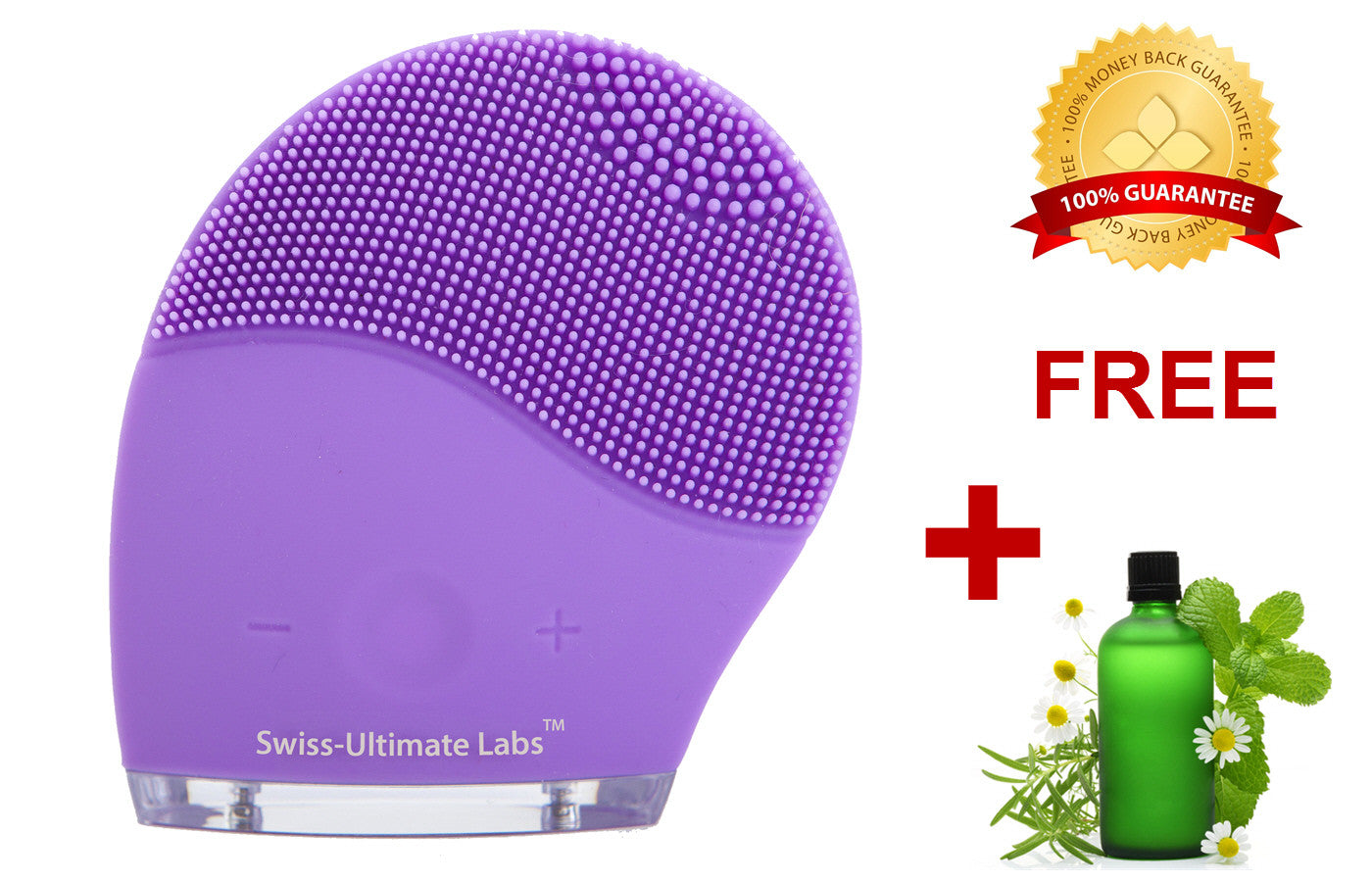 Perfect Curve Sonic Facial Cleansing Brush for Healthy Skin - Purple
