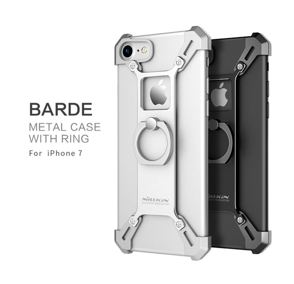 Nillkin Barde Aluminum Alloy Back Cover with ring Phone Holder for  Iphone 7 4.7/7 Plus 5.5