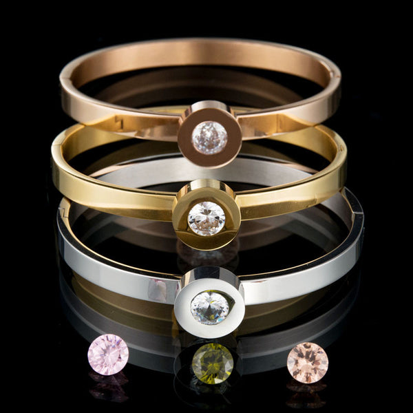Interchangeable CZ Stone Bangle