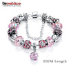 Women Glass Charm Bracelet