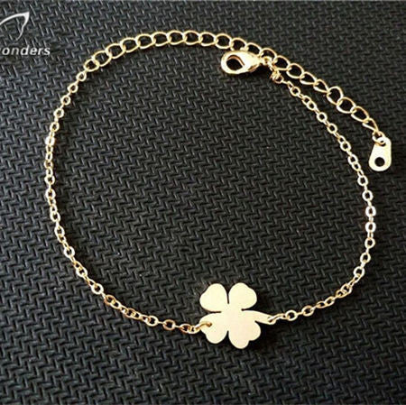Four Leaf Clover Good Luck Charm Bracelet