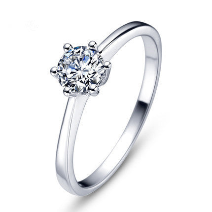 Super shiny Zircon Ladies Wedding Ring