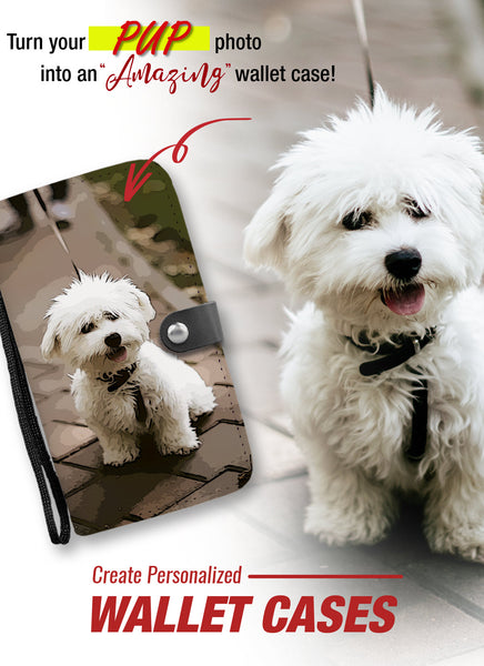 Personalized Pup Wallet Phone Case