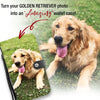 Personalized Golden Retriever Wallet Phone Case