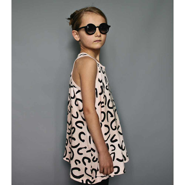 Beau Loves Modern Leopard Blush Racer Circle Dress from Yellow Lolly