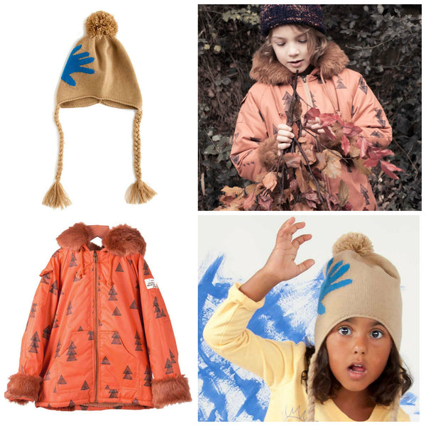 Bobo Choses Woods Anorak and Nadadelazos Hand Knitted Hat from Yellow Lolly