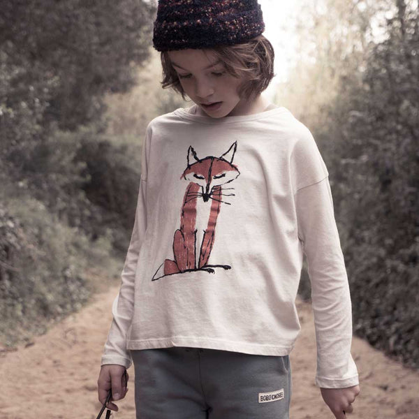 Bobo Choses Fox Long Sleeved T-Shirt AW15/16 at Yellow Lolly