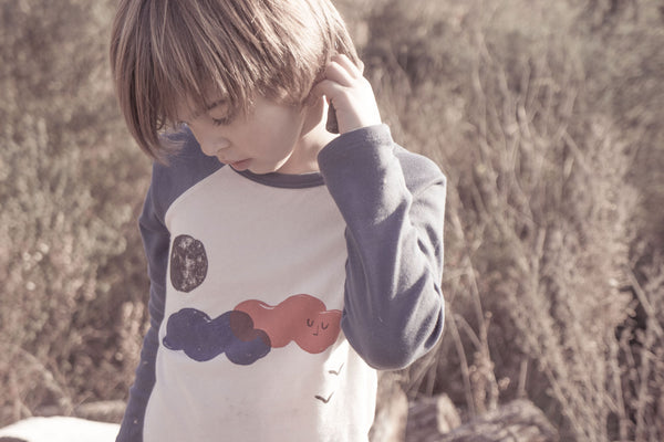 Bobo Choses Clouds Raglan T-Shirt AW15/16 at Yellow Lolly