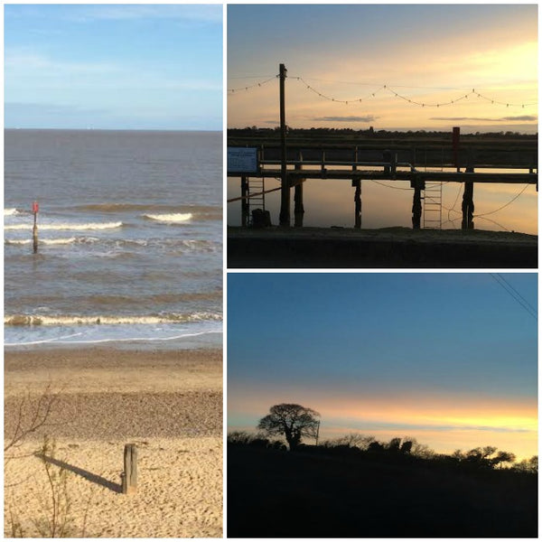 #1Day12Pics Southwold Beach, harbour and sunset on the Yellow Lolly Blog