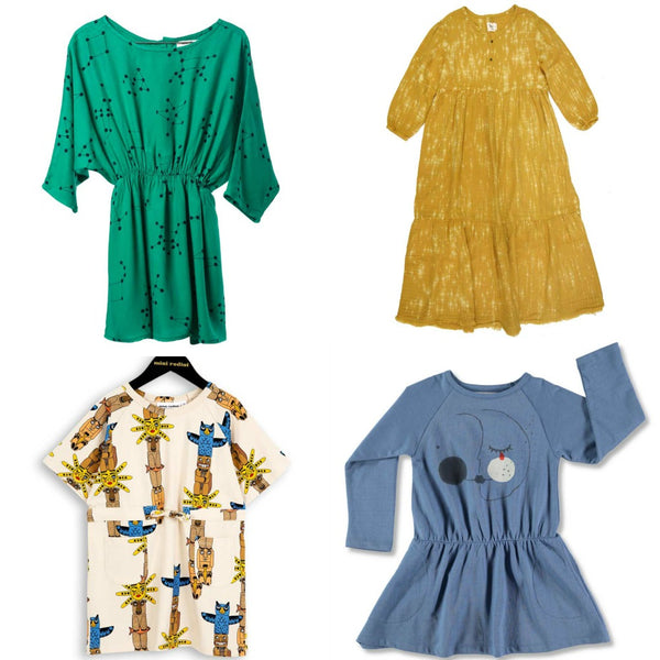 Cool, stylish, fun and colourful dresses for kids from Yellow Lolly