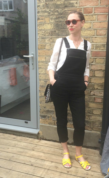 Mama Style - Fitted Black Overalls on the Yellow Lolly Blog