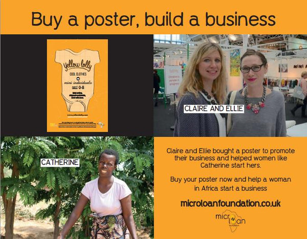 Yellow Lolly and Catherine - MicroLoan Foundation PR Poster