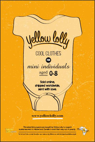 Yellow Lolly MicroLoan Foundation Poster by DLKW Lowe
