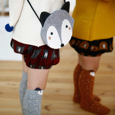 Mini Dressing Raccoon Socks and Bags at Yellow LOlly