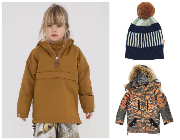Popupshop Tapenade Anorak Feathers Arctic Explorer Coat Tiny Cottons Hat Yellow Lolly