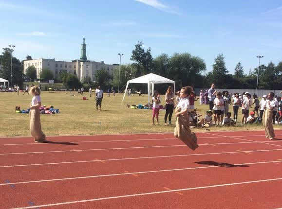 School Sports Day Sack Race Winner