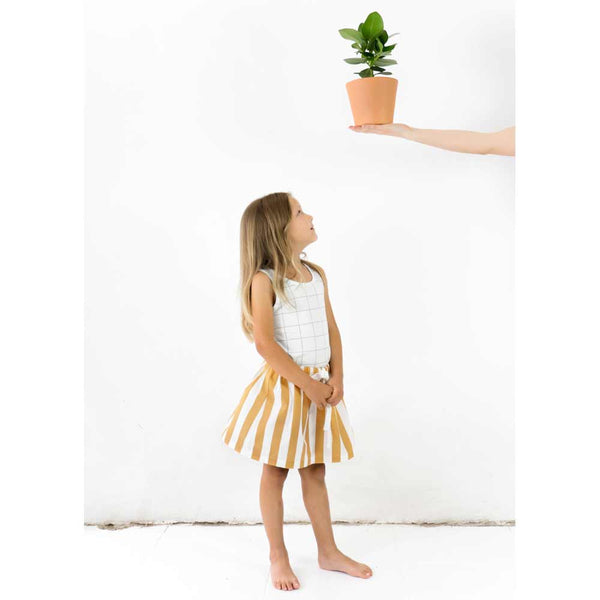 Tiny Cottons Wide Stripe Cotton Skirt from Yellow Lolly