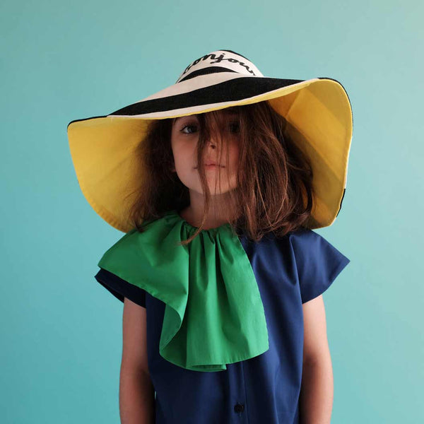 Wolf & Rita Blue Amalia Dress and Bonjour Hat from Yellow Lolly