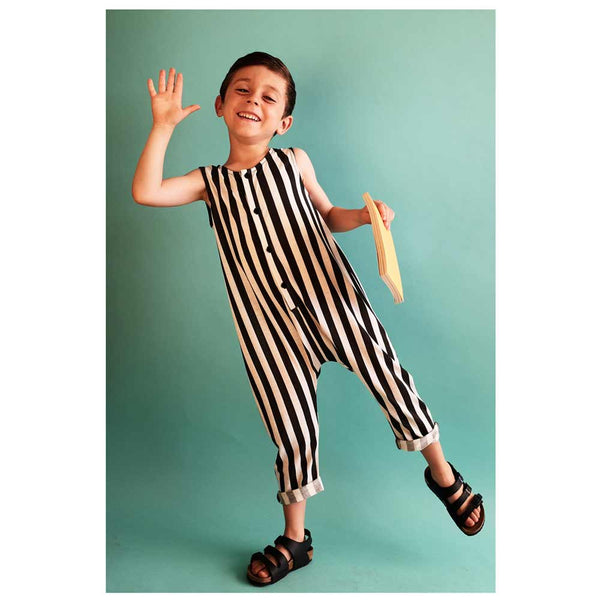 Wolf and Rita Martim Black Stripe Playsuit from Yellow Lolly