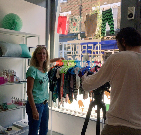 Claire from Yellow Lolly being filmed for the MicroLoan Foundation