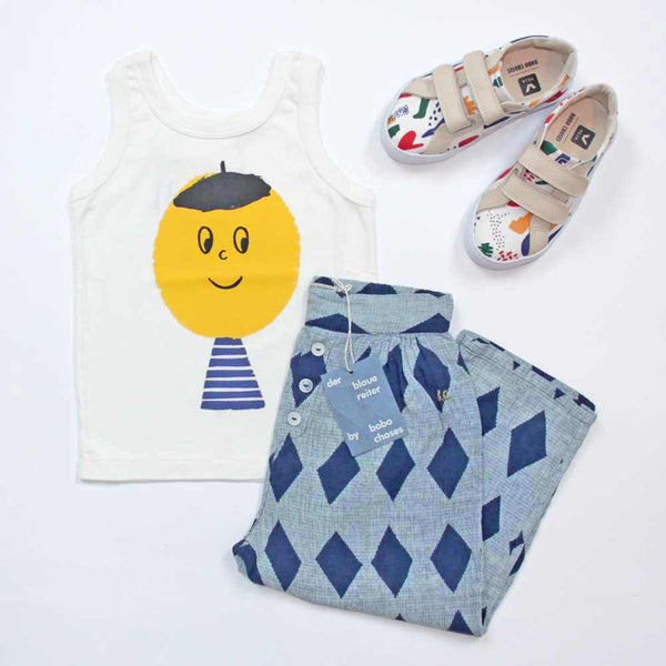 Bobo Choses Artist Kid Tank Top, Diamonds Lounge Pants, Veja Matisse Sneakers - Yellow Lolly