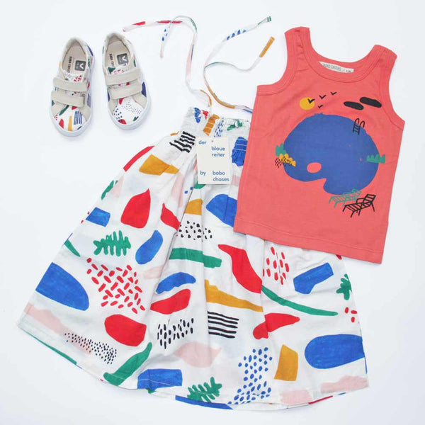 Bobo Choses Veja Matisse Sneakers, Matisse Straps Dress and Palette Kid Vest Top - Yellow Lolly