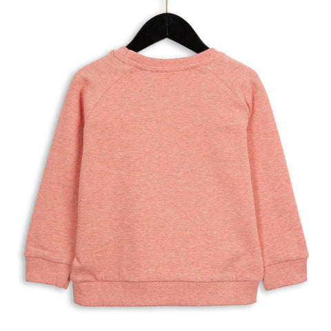Mini Rodini Pink Melange Panther Sweatshirt at Yellow Lolly - Back View