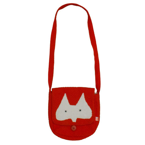 Noé & Zoë Aw16 Tomato Red Fox Ears Shoulder Bag at Yellow Lolly