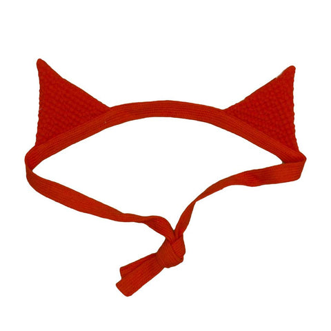 Noé & Zoë A16 Tomato Red Fox Ears Head Band at Yellow Lolly