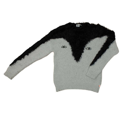 Noé and Zoë AW16 Penguin Fluffy Knitted Jumper at Yellow Lolly