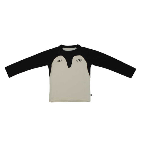 Noé & Zoë AW16 Black Penguin Raglan T Shirt at Yellow Lolly