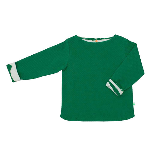 Noé and Zoë AW16 Green Waffle Long Sleeved Top