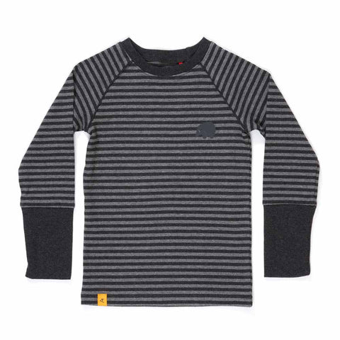 Albababy AW16 Heim Dark Grey Striped Long Sleeved T Shirt