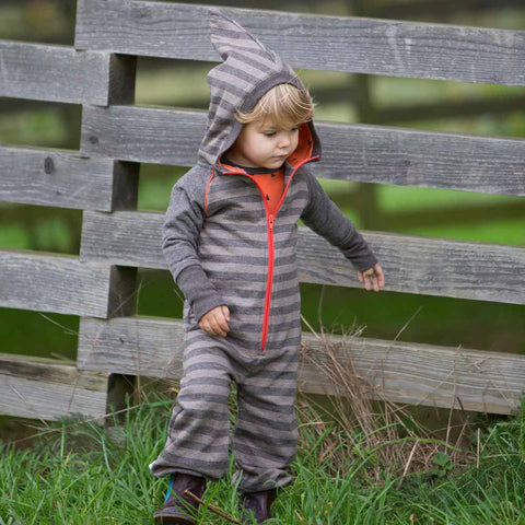 Toddler Wearing Albababy Hulliver Jave Striped Jumpsuit