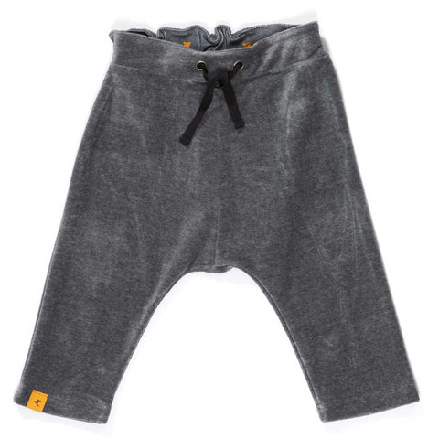 Albababy AW16 Hallian Grey Velour Baby Pants at Yellow Lolly