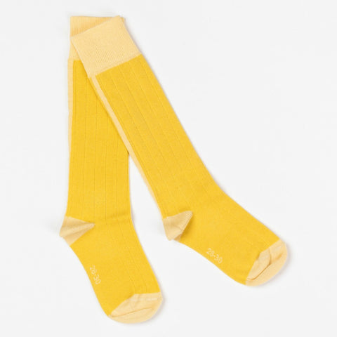 Albababy Bamboo Yellow Bea Knee Socks - Yellow Lolly