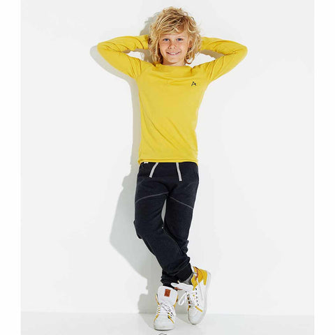 Boy Wearing Albababy SS17 Harwin Yellow Child's T Shirt