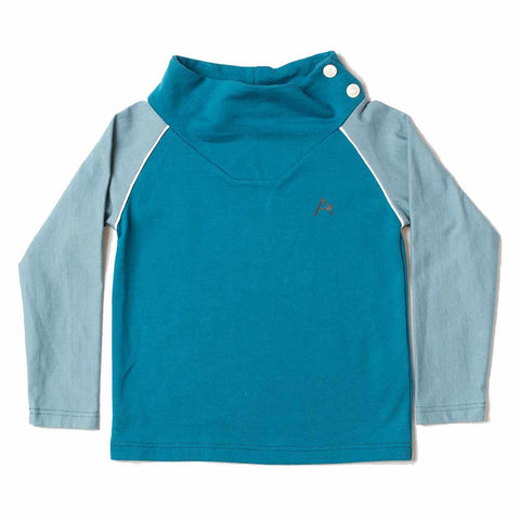 Albababy SS17 Hollum Blue Raglan Child's Sweatshirt at Yellow Lolly