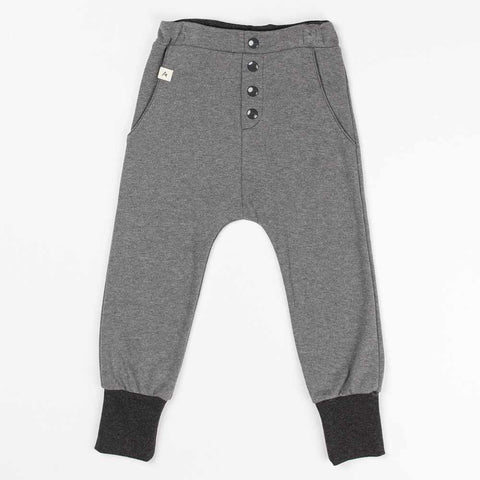 Albababy SS17 Grey Melange Hai Buttoned Kids Pants