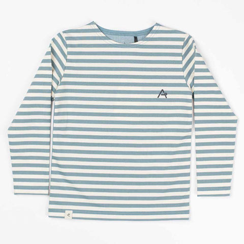 Albababy SS17 Hannibal Blue Stone Kid's Striped T Shirt at Yellow Lolly