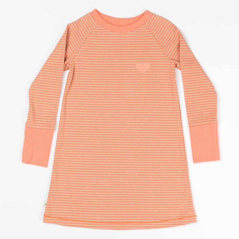 Albababy SS16 Coral Striped Lea Girl's Dress at Yellow Lolly