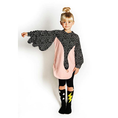 Girl Wearing BangBang Copenhagen Pink Cloud Tights