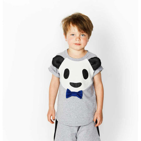 Boy Wearing Bangbang Copenhagen Bamboo Boy Panda Top