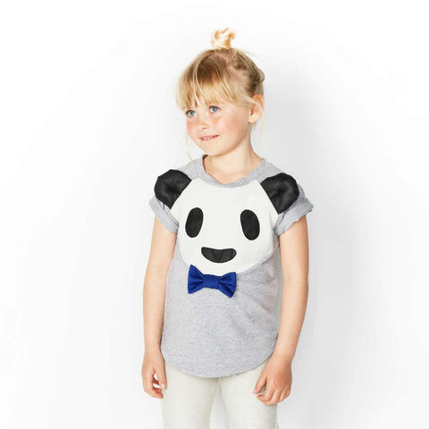 Girl Wearing Bangbang Copenhagen Bamboo Boy Panda Top