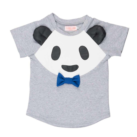 Bangbang Copenhagen Bamboo Boy Panda Top at Yellow Lolly