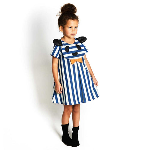 Girl Wearing BangBang Copenhagen Big Hug Striped Dress