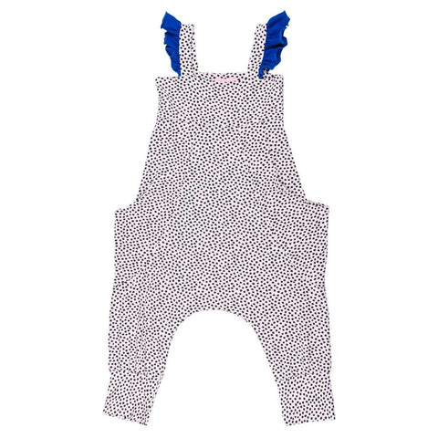 BangBang Copenhagen Fallula Pink and BLack Spotty Jumpsuit - Yellow Lolly
