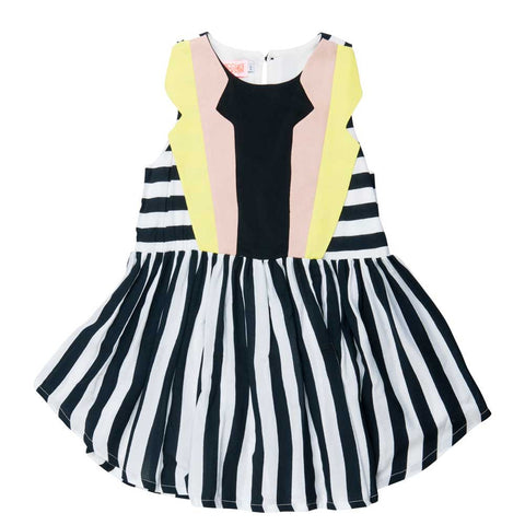 BangBang Copenhagen Ladybird Stripe Dress - Yellow Lolly