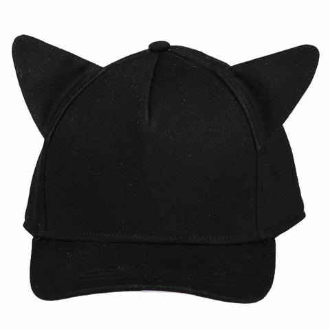 Beau Loves SS17 Inky Black Cap With Ears - Yellow Lolly